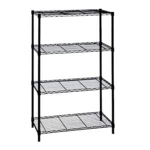 Black 4-Tier Metal Wire Shelving Unit (36 in. W x 54 in. H x 14 in. D)