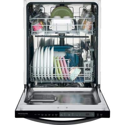 24 in. Smudge Proof Stainless Steel Top Control Built-In Tall Tub Dishwasher with Stainless Steel Tub, 49 dBA