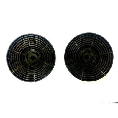 Range Hood Carbon/Charcoal Filters for Ductless/Ventless Recirculating Installation and Replacement for (Set of 2-Piece)