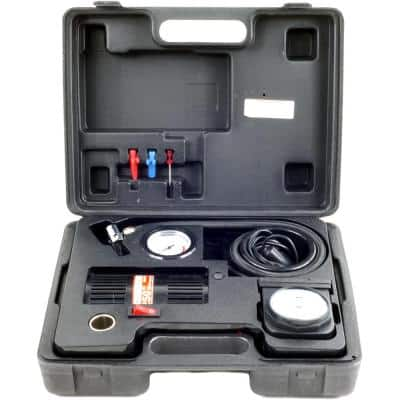 Portable Electric Powered Air Compressor Kit with Light