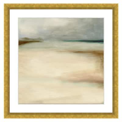 """""""Sand Dunes in Winter II"""" Framed Archival Paper Wall Art (26 in. x 26 in. in full size)"""