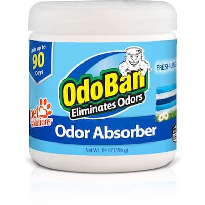 14 oz. Fresh Linen Solid Odor Absorber, Odor Eliminator for Smoke Odor & Musty Smell in Home, Bathroom, Pet Areas
