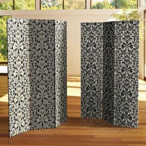 6 ft. Damask Printed 3-Panel Room Divider
