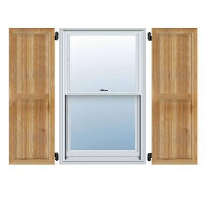 21-1/2 in. X 72 in.Timbercraft Rustic Wood Four 5-3/8 in.Framed Board and Batten Shutters Rough Sawn Cedar (Per Pair)