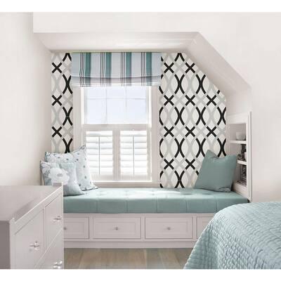 Black and Silver Lattice Multi-Color Wallpaper Sample