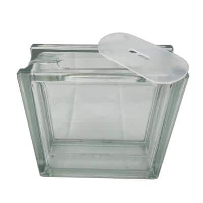 7.5 in. x 7.5 in. x 3.125 in. Clear Pattern Glass Block for Arts and Crafts (5-Pack)