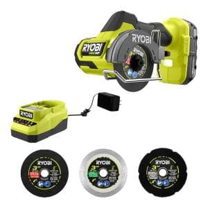 ONE+ HP 18V Brushless Compact Cut-Off Tool Kit w/1.5 Ah Battery, 18V Charger & Extra 3 in. Cut-Off Wheels (3-Pack)