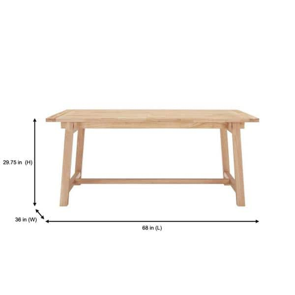 Stylewell Unfinished Wood Rectangular, Unfinished Furniture Ct