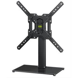 TV Stand Base for 26 in. to 55 in. LCD LED Flat Screen TVs, VESA 400 mm x 400 mm Height Adjustable Tabletop