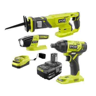 ONE+ 18V Cordless Combo Kit (3-Tool) with (1) 4.0 Ah Battery and Charger