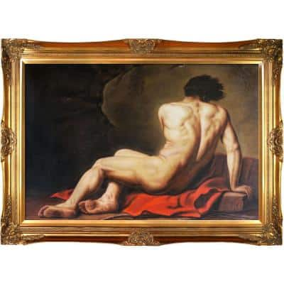 """""""Patroclus, 1780 with Victorian Gold Frame """" by Jacques-Louis David Oil Painting"""