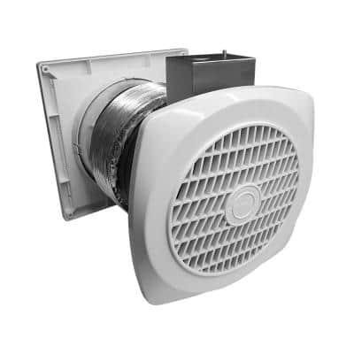 70 CFM Through-The-Wall Ventilation Fan w/Louvers for Home Bathroom Laundry Room Utility Exhaust Wall Fan 6 in 4.0 Sone