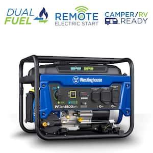 WGen3600DFv 4,650/3,600-Watt Dual Fuel Powered RV-Ready Portable Generator with Automatic Low Oil Shutdown
