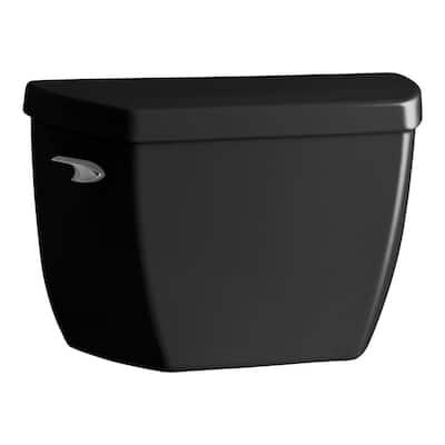 Highline 1.6 GPF Single Flush Toilet Tank Only in Black