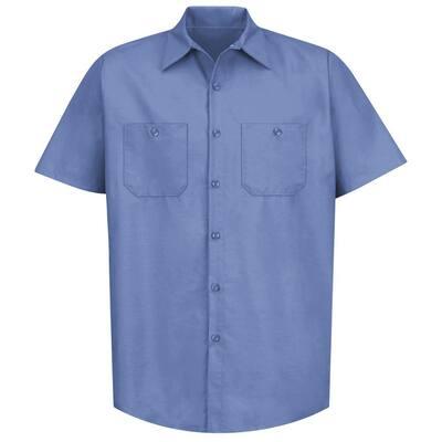 Men's Size 2XL Petrol Blue Industrial Work Shirt
