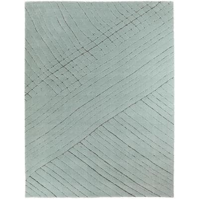 Roland Cyan 5 ft. x 7 ft. Abstract Area Rug