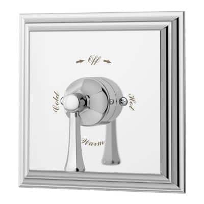 Canterbury 1-Handle Tub and Shower Valve Trim Kit in Polished Chrome (Valve not Included)
