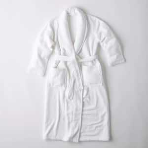 Company Cotton Women's Large White Turkish Cotton Long Robe