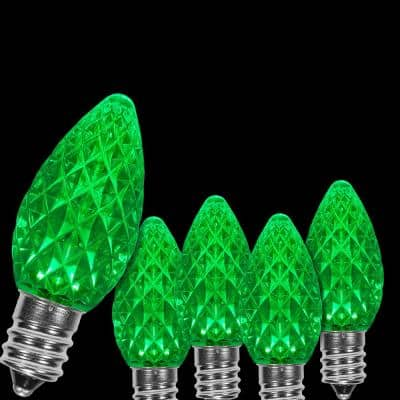 Vintage Christmas Light Bulbs 4-Pack Replacement Lot of 2 C7 green  New in box