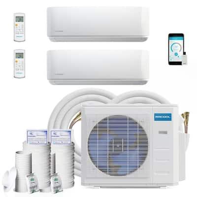 DIY 33,000 BTU 2.75-Ton 2-Zone Ductless Mini-Split Air Conditioner Heat Pump 230-Volt/60Hz