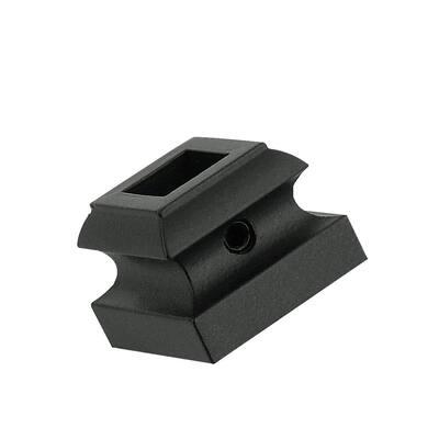 1/2 in. Matte Black Flat Metal Shoe