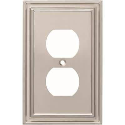 Nickel 1-Gang Duplex Outlet Wall Plate (1-Pack)