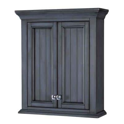 Brantley 24 in. W x 28 in. H Surface Mount Wall Cabinet in Harbor Blue