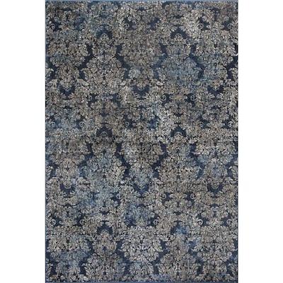 Bernadette Green 3 ft. x 4 ft. Rectangle Silk Blend Area Rug