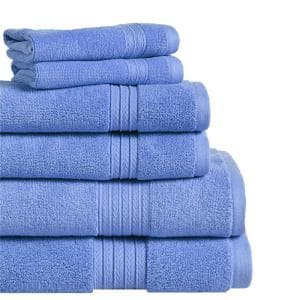 Summit 6-Piece Marina Solid Cotton Bath Towel Set