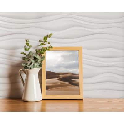 24'' x 24'' Dunes PVC Seamless 3D Wall Panels in White 9-Pieces