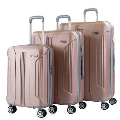 Denali 3-Piece Rose Gold Expandable Hardside Spinner Luggage with TSA Locks