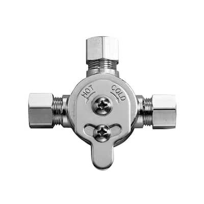 Mix60A, 3326009 Optima Faucet Mixer Below Deck Mechanical Water Mixing Valve, Polished Chrome