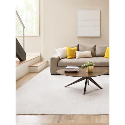 Carpet Diem - Color Snow Kissed Residential 9 in. x 36 in. Peel and Stick Carpet Tile (8 Tiles / Case)