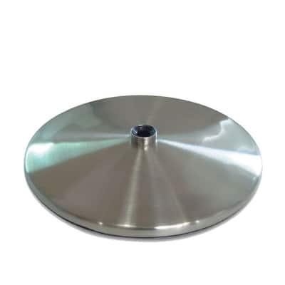 Brushed Stainless Steel Slimline Table Base