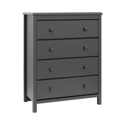 Alpine 4-Drawer Gray Dresser