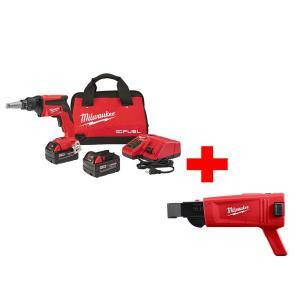 M18 FUEL 18-Volt Lithium-Ion Brushless Cordless Drywall Screw Gun XC Kit with Collated Screw Gun Attachment