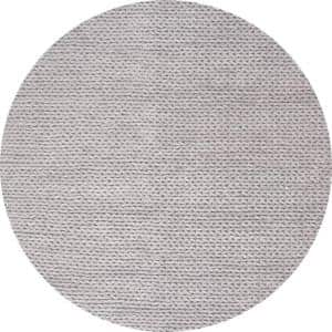 Caryatid Chunky Woolen Cable Light Gray 4 ft. Round Rug