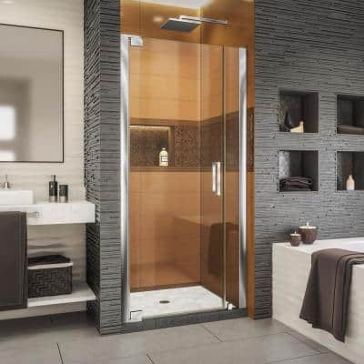 Elegance-LS 36-1/4 in. to 38-1/4 in. W x 72 in. H Frameless Pivot Shower Door in Chrome