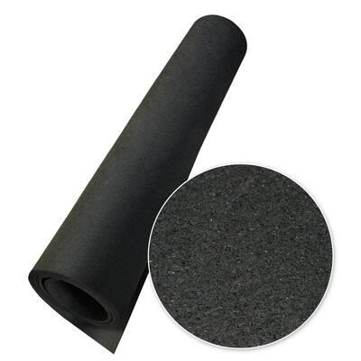 Elephant Bark Black 1/4 in. T x 48 in. W x 180 in. L Rubber Flooring (60 sq. ft.)