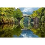 Traditional Arch Bridge Abstract Wall Mural