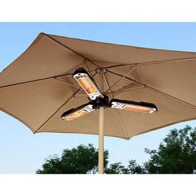 1,500 Watt Infrared Parasol Electric Patio Heater