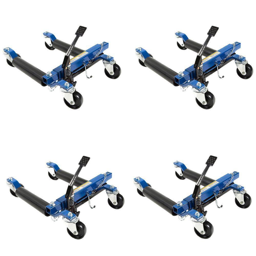 1500 lb. 12 in. Hydraulic Car Wheel Dolly (4-Pack)