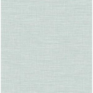 Exhale Light Blue Faux Grasscloth Light Blue Wallpaper Sample