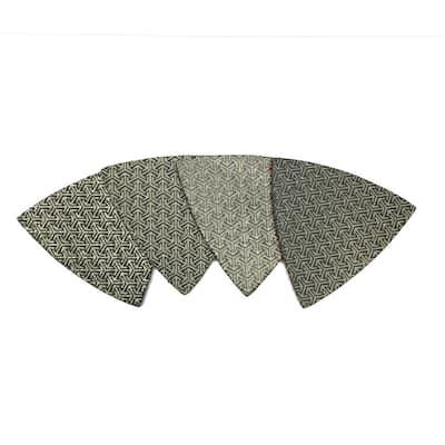 3 in. Triangle Shaped Diamond Polishing Pad (Set of 4)