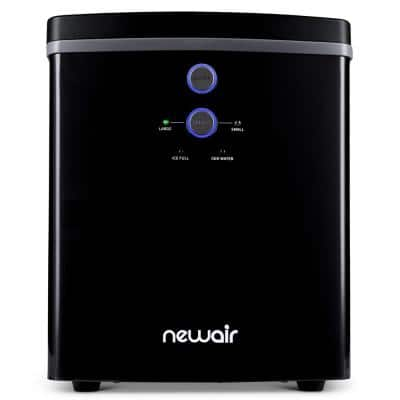 33 lb. of Ice a Day Portable Countertop Ice Maker BPA Free Parts with 2 Ice Size and Removable Tray in Black