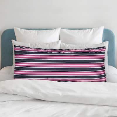 Striped Print Microfiber Body Pillow Protector