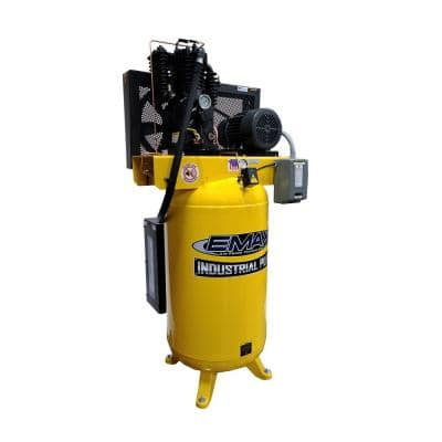 Industrial Plus 80 Gal. 5 HP 230-Volt 3-Phase Silent Electric Air Compressor