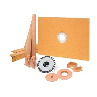 Kerdi-Shower-Kit 48 in. x 72 in. Shower Kit with ABS Flange