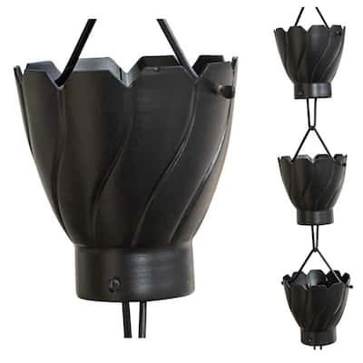Monarch 8-1/2 ft. L Black Powder Coated Aluminum Akira Rain Chain