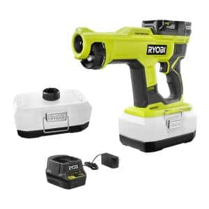 ONE+ 18V Cordless Handheld Electrostatic Sprayer Kit with (1) 2.0 Ah Battery, Charger, and 1 Liter Replacement Tank